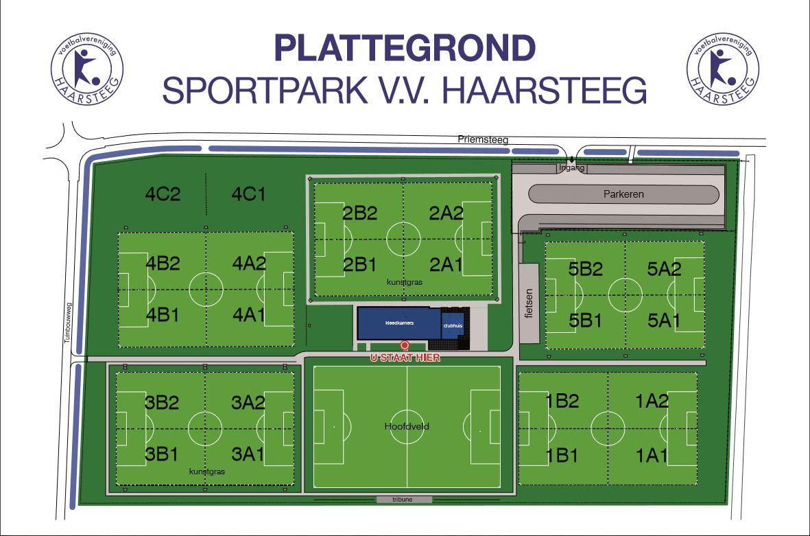 Plattegrond Sportpark v.v. Haarsteeg